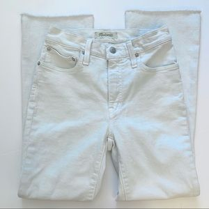 Madewell Cali Demi Boot Jeans Crop Raw Hem 25